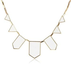 House of Harlow 1960 geometric gold white necklace